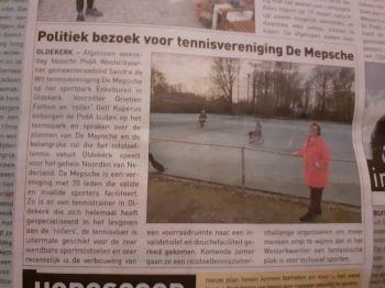 Bezoek PvdA, krantenbericht