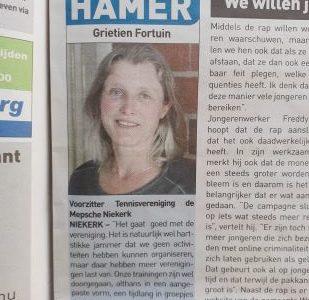 Interview Grietien Streekkrant 28 april 2021