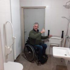 Opening invalidentoilet en -douche