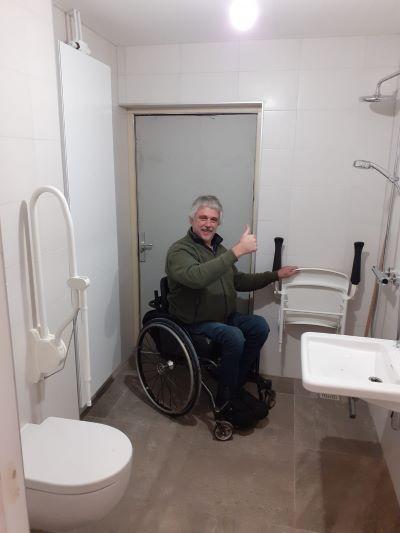 Invaliden douche toilet, Gelf